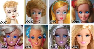 ៥៦ ឆ្នាំនៃការវិវត្តន៍របស់តុក្កតា Barbie