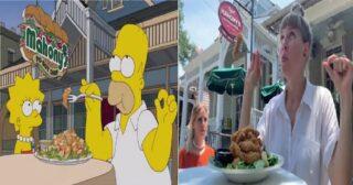 ពិតជាអស្ចារ្យមែន! អ្នកទេសចរជនជាតិស្វីសពីរនាក់កំពុងធ្វើដំណើរកំសាន្ត ហើយថតយករូបភាពតាម ដំណើររឿង The Simpsons និយាយពីថាឡូយខប់ៗតែម្តង!!!(មានវីដេអូ)