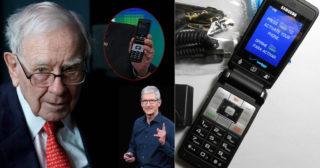 សេដ្ឋីលំដាប់ទី ៤ មានទ្រព្យ ៨៧,៥ ពាន់លានដុល្លារ ស៊ូប្រើទូរសព្ទកញ្ចាស់តម្លៃ ២០ ដុល្លារ ទីបំផុតព្រមប្តូរសេរ៊ីឡើង iPhone ហើយ ព្រោះ